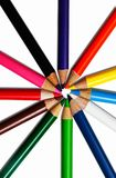 Color pencils isolated on white Royalty Free Stock Photos