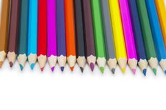 Color pencils isolated on white Stock Images