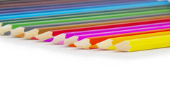 Color pencils isolated on white Royalty Free Stock Image
