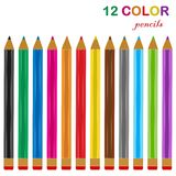 Color pencils vector illustration