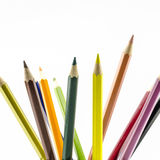 Color pencils isolated on white Royalty Free Stock Photography