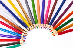 Color pencils isolated on white background Royalty Free Stock Photography