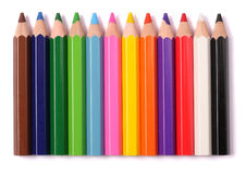 Color pencils. Isolated white background royalty free stock photo