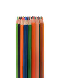 Color pencils isolated on white background. In a beautiful way Stock Images