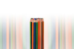 Color pencils isolated on white background. In a beautiful way Royalty Free Stock Images