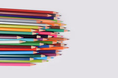 Color pencils isolated on white background. In a beautiful way Stock Photography