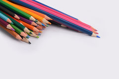 Color pencils isolated on white background. In a beautiful way Royalty Free Stock Photos