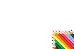 Color pencils isolated on white background close up pattern Stock Images