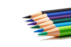 Color pencils isolated on white background. Stock Photography