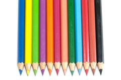 Color pencils isolated on white background. Color pencils isolated for education Stock Image