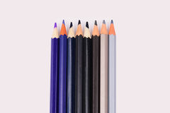 Color pencils isolated on white background Royalty Free Stock Photo