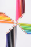 Color pencils isolated on white background Royalty Free Stock Photos