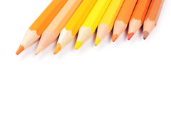 Color pencils isolated on white background Stock Images