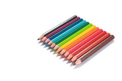 Color pencils isolatedwith perspective Stock Images