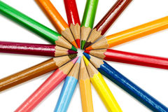 Color pencils lay around Stock Photography