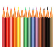Color pencils in line Stock Photos