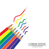 Color pencils. Lorem ipsum color pencils background royalty free illustration