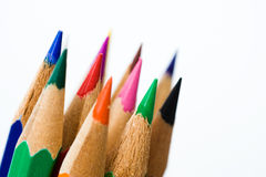 Color pencils macro Stock Photos