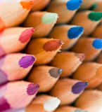 Color pencils. Macro. Shallow DOF royalty free stock photo