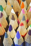 Color pencils macro Stock Photography