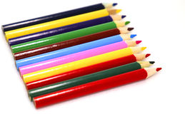 Color pencils macro Royalty Free Stock Images