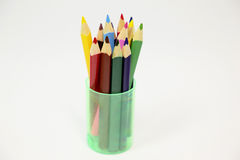 Color pencils macro Royalty Free Stock Photo