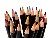 Color pencils tips Stock Photography