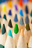 Color pencils macro shot. Macro shot of color pencils royalty free stock photo