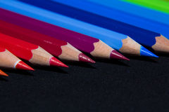Color pencils. Macro shot, Faber Castel, Back to school royalty free stock photo
