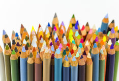 Color pencils. New color pencils in a glass Royalty Free Stock Photos