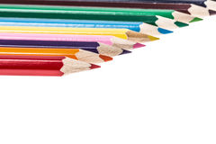 Color pencils over white Stock Photography