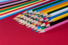 Color pencils. And color paper stock photos
