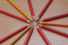 Color pencils picture. Picture of colored pencils, photo 2017 Royalty Free Stock Images