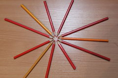 Color pencils picture Royalty Free Stock Image