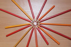 Color pencils picture. Picture of colored pencils, photo 2017 Royalty Free Stock Photos