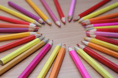 Color pencils picture. Picture of colored pencils, photo 2017 Royalty Free Stock Photo