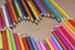 Color pencils picture. Picture of colored pencils, photo 2017 Royalty Free Stock Photography