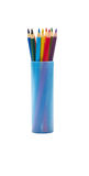 Color pencils. In the plastic case Royalty Free Stock Image