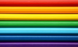 Color pencils in rainbow colors Stock Images