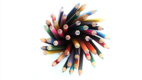 Color pencils stock footage