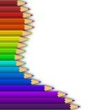 Color pencils row. Vertical brihght color pencils row Stock Photography