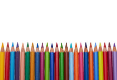 Color pencils. In a row Royalty Free Stock Image