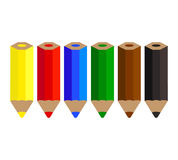 Color Pencils Set Royalty Free Stock Photo