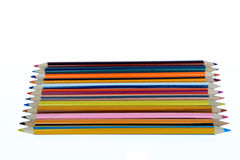 Color pencils. Set on white background Royalty Free Stock Image