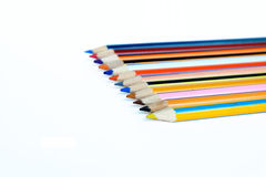 Color pencils. Set on white background Stock Photography