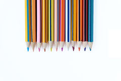 Color pencils. Set on white background Royalty Free Stock Photography
