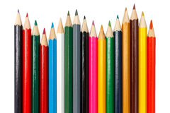 Pencils. Color pencils in a shape of wave Stock Photos