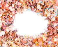 Color pencils shavings Stock Photos