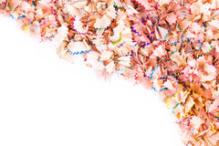 Color pencils shavings Stock Images