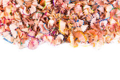 Color pencils shavings Royalty Free Stock Image